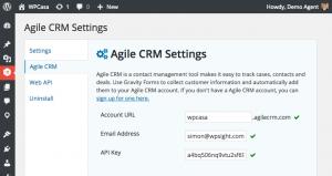Setting Agile CRM