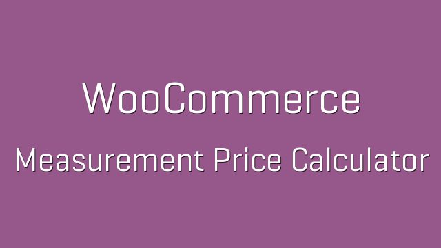 how to set prices in measurements in woo commerce