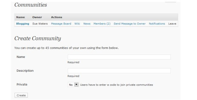 Setup message boards, wikis, news areas and community dashboards with ...