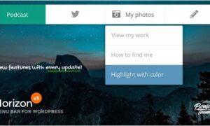 horizon-menu-bar-plugin-for-wordpress